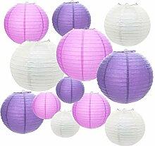 Lampion Papier, 12 Pièces Lanterne en papier