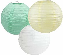 Lampions de Décoration Ronds en Papier, Abat-Jour