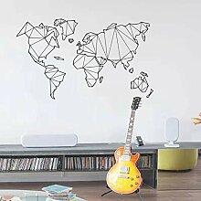 Lamubh Grande Taille géométrique Carte du Monde