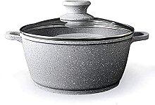 LAMZH Marmite à soupe en acier inoxydable avec