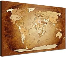 Lana KK - Photo Toile Carte du Monde - Babillard