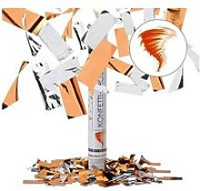Lanceur de confettis orange argent 40cm canon