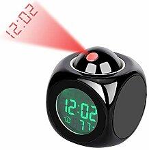 Lancoon Réveil De Projection - Horloge De Bureau