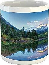 Landscape Mug, Reflection of Snowcapped Maroon
