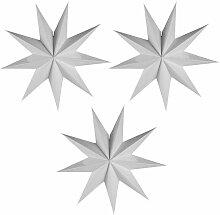 LangRay 3 pièces 9 lanternes étoiles en papier