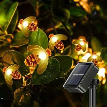 LangRay Guirlande Lumineuses Solaire, Abeille