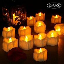 Langray - Lot de 12 Bougies à LED, Bougies LED à