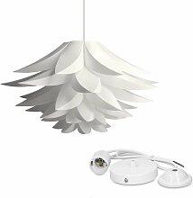 Langray - lustre - Lampe design lotus - Abat-jour