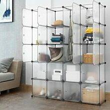 LANGRIA 20-Cube Armoire de Chambre Penderie