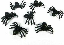 Lankater 100pcs Mini Lumineux Spiders en Plastique