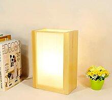 LANMOU E27 Lampe De Chevet En Bois De Style