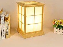LANMOU E27 Lampe De Table En Bois De Style