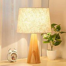 LANMOU Lampe de Chevet en Bois Nordique, Lampe de