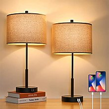 LANMOU Lampe de Chevet Tactile avec Port USB/TPC,
