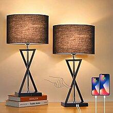LANMOU Lampe de Chevet Tactile Dimmable, Lampe de