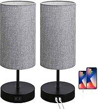 LANMOU Lot de 2 Lampe de Chevet Tactile Dimmable,