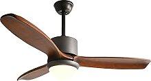 LANMOU Ventilateur de Plafond avec Lampe LED, Bois