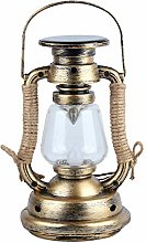 Lanterne à bougie solaire vintage, lampe à huile
