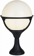 Lanterne de jardin orb 1 ampoule poteau noir /