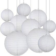 Lanterne De Papier,Hanging Paper Lanterns 20 pcs