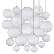 Lanterne De Papier,Hanging Paper Lanterns 30pcs