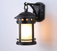 Lanterne De Porche En Verre Dépoli Avec Applique