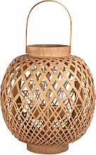 Lanterne en bambou tressé