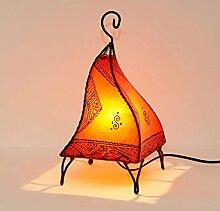Lanterne en cuir orientale marocaine FATUTA 35 cm