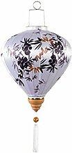 Lanterne en Tissu de Style Chinois en Bambou en