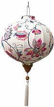 Lanterne en Tissu Hortensia Lanterne Ronde de