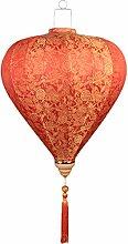 Lanterne en Tissu Peint Chinois Traditionnel