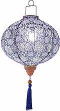 Lanterne en Tissu Traditionnel Style Chinois Bleu