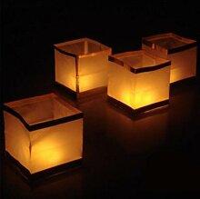 Lanterne flottante carrée en papier, 20 pièces,