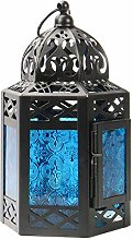 Lanterne marocaine bleue | Bougeoir Tea Light |