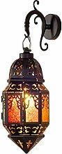 Lanterne marocaine lustre méditerranéen coloré
