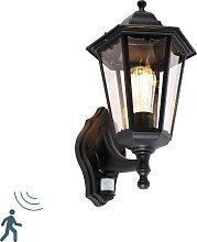 Lanterne murale d'extérieur noire avec