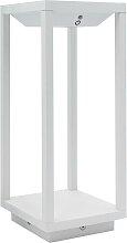 Lanterne solaire en aluminium aluminium blanc H34cm