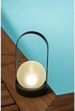 Lanterne solaire métal - boule perlée - GALIX