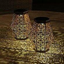 lanterne solaire pour extérieur hexagon - lot de