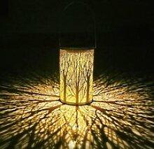 Lanterne Solaire Suspendue, forme d'arbre LED