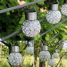 Lanterne solaire suspendue LED, imperméable,