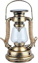 Lanterne Solaire Vintage, Lampe à Huile LED Style