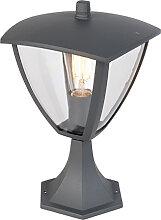 Lanterne sur pied moderne extérieur gris foncé -