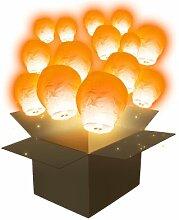 Lanterne Volante Balloon Orange x100 - Orange