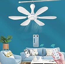 LanXi Ventilateur de plafond silencieux à 6 pales