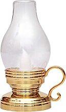 Lary Lanterne LED vintage à piles avec flamme