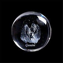 Laser Gravé Signe du Zodiaque Cristal Balle
