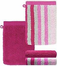 Lashuma Ensemble de 4 gants de toilette, violet,