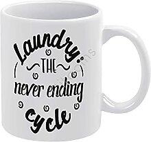 Laundry, Mug à café fantaisie « The Never