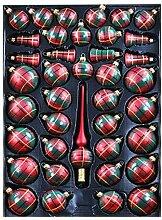 Lauscha Lot de 40 boules de sapin de Noël à